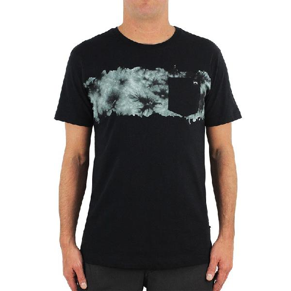 Camiseta billabong chest stealth black grey - surf alive