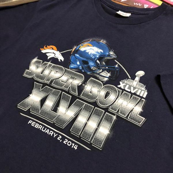 Camiseta delta super bowl tubular - size large