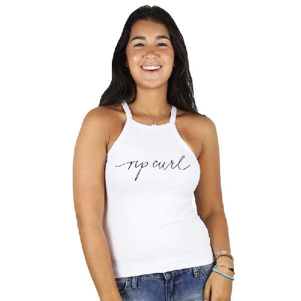 Camiseta regata feminina rip curl alexis white - surf alive