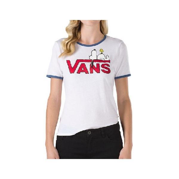 Camiseta vans x peanuts feminina snoopy ringer white true