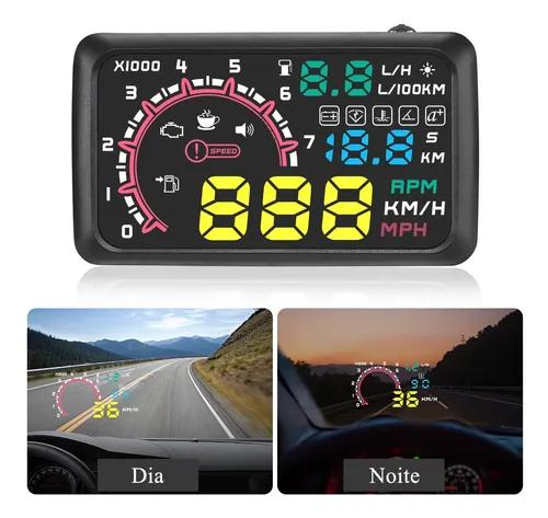 Carro hud head up display obd2 km / h mph excesso velocidade