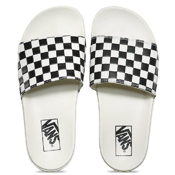 Chinelo vans slide on checkerboard white black - surf alive
