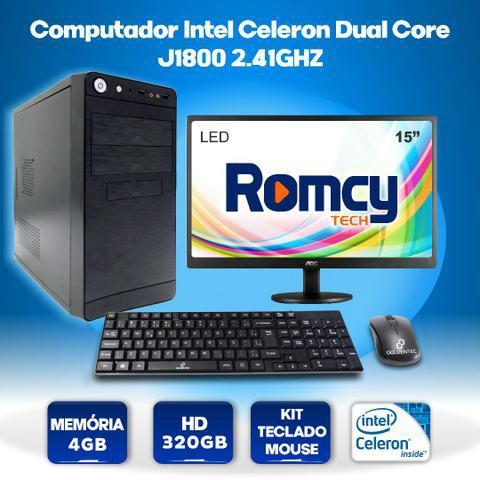 Computador intel celeron dual-core j1800 2.41ghz 4gb 320gb +
