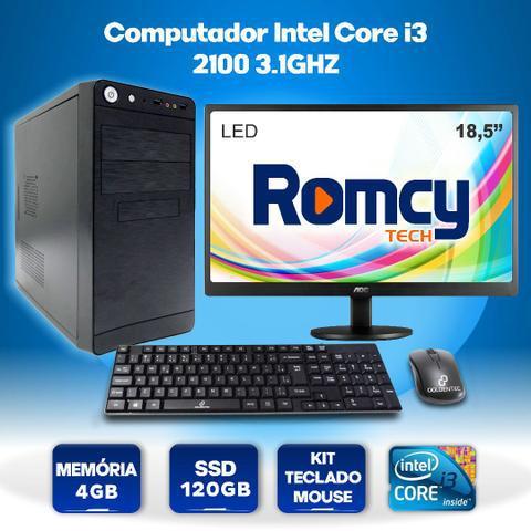 Computador intel core i3 2100 4gb ssd 120gb + monitor led