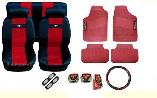 Corsa sedan 2001 capas bancos kit tapete pedaleira volante