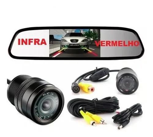Espelho retrovisor interno + câmera de ré infra gm s10
