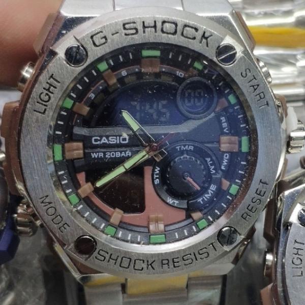 G-shock steel pulseira aço