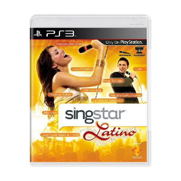 Jogo singstar latino - ps3