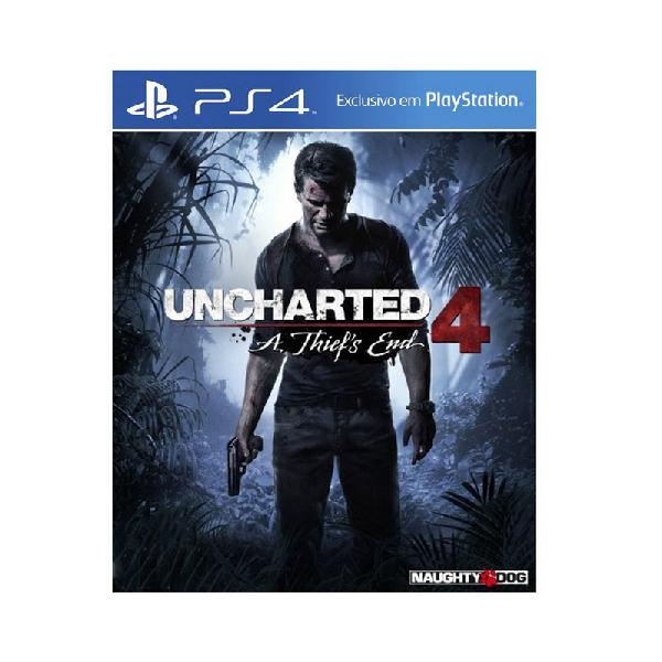 Jogo uncharted 4: a thief's end - ps4 (capa dura)