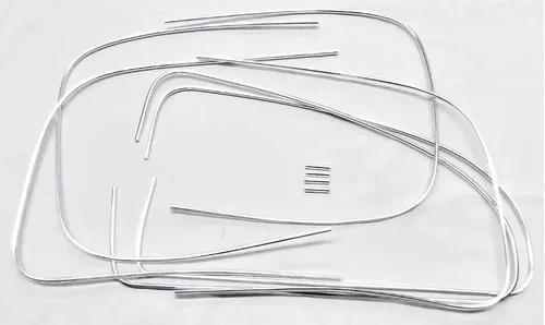 Kit friso vidro fusca parabrisa vigia com presilha 1968 a 86