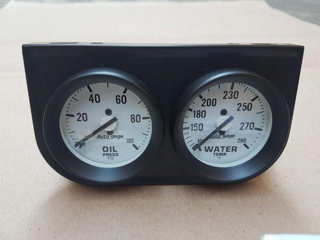 Kit relógio auto gage pressão de oleo / temperatura água