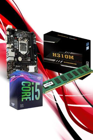 Kit upgrade intel (processador intel 9400f, h310mhp, micron