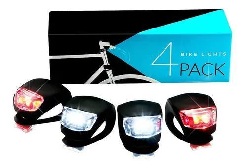 Led silicone mountain bike bicicleta frente luzes traseiras