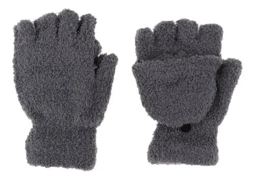 Luvas masculinas conversíveis de inverno fofas luvas de