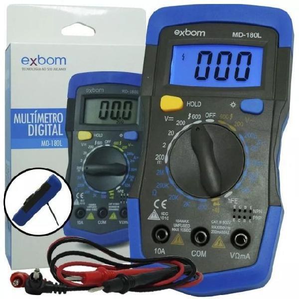 Multímetro digital profissional com cabo multi teste