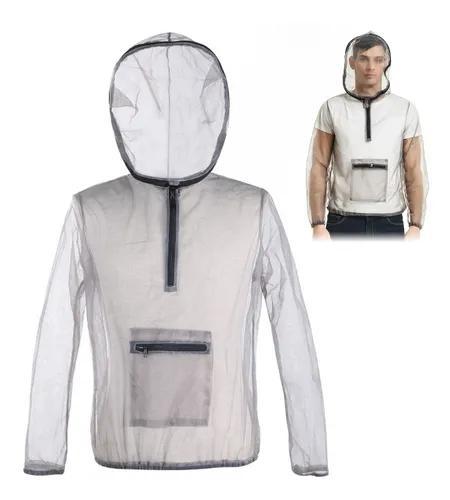 Outdoor ultralight mesh com capuz bug jaqueta anti-mosquito