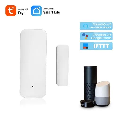 Porta wifi sensor tuya app controle porta abertura da janela