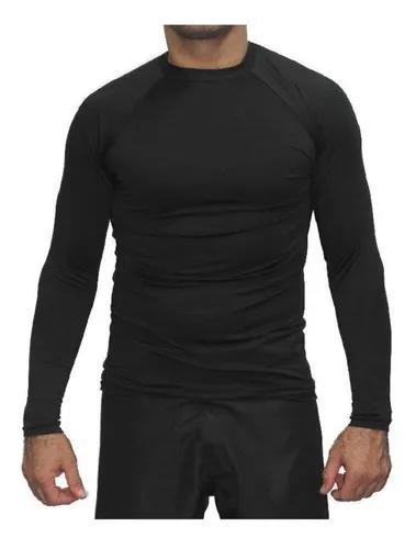 Rash guard camisa térmica segunda pele preta - g