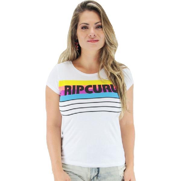 Surf alive - camiseta rip curl vintage baseball feminina