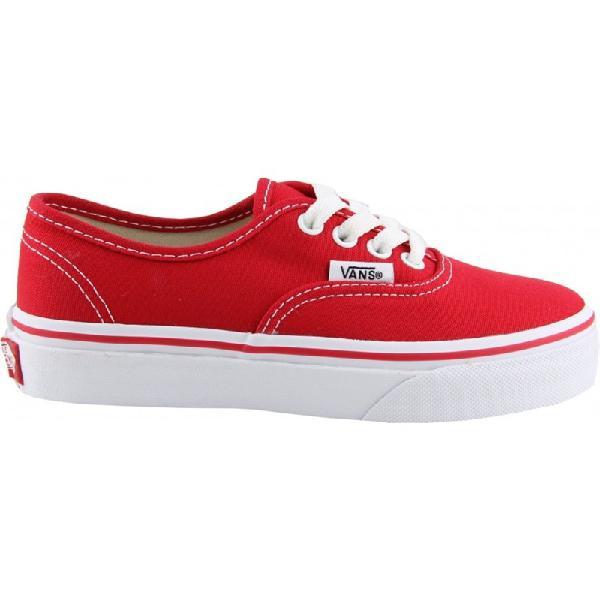 Tênis vans classic u authentic kids red vermelho infantil -