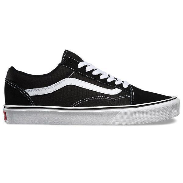 Tênis vans old skool lite suede canvas black white - surf