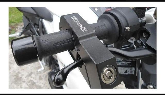Trava moto tecklock freio manete punho antifurto original