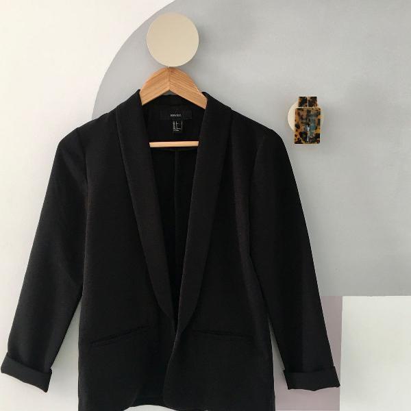 Blazer casual preto