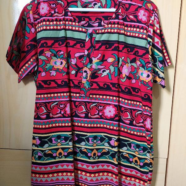 Camisa estilo bata floral