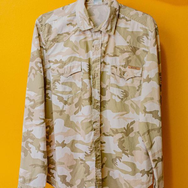 Camisa masculina camuflada bivik - tam. p