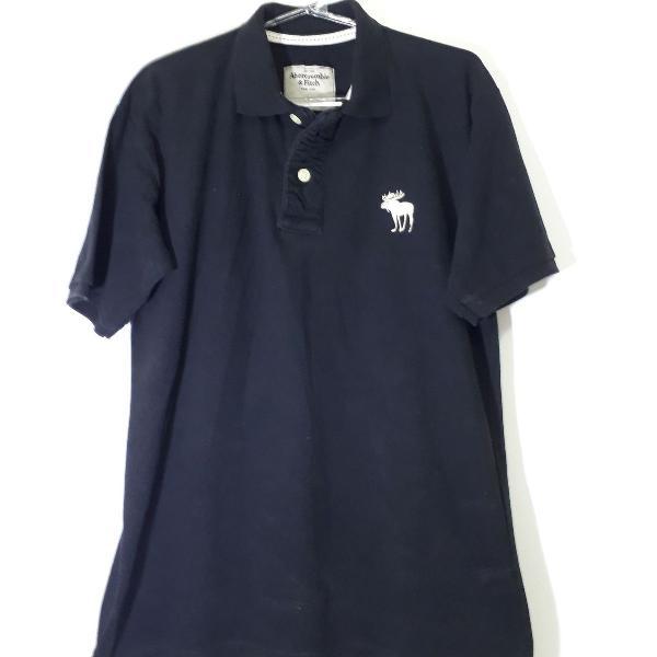 Camisa polo abercrombie preta