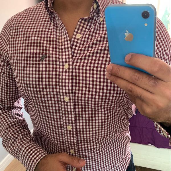 Camisa xadrez abercrombie e fitch