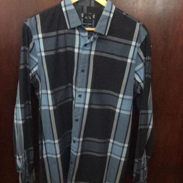 Camisa xadrez armani exchange
