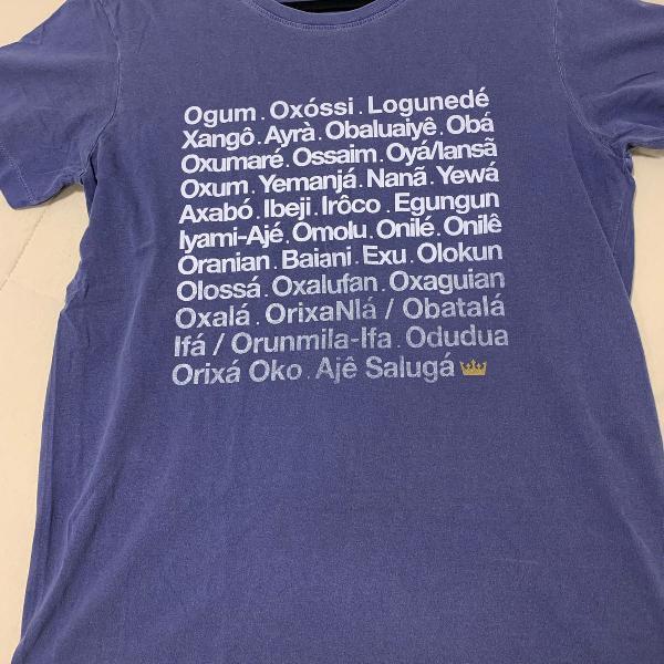 Camiseta azul candomblé osklen