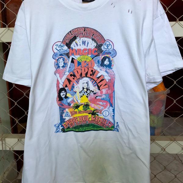 Camiseta cotton on branca led zeppelin tamanho g