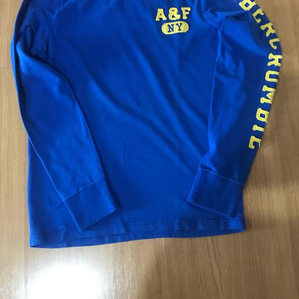 Camiseta manga longa abercrombie