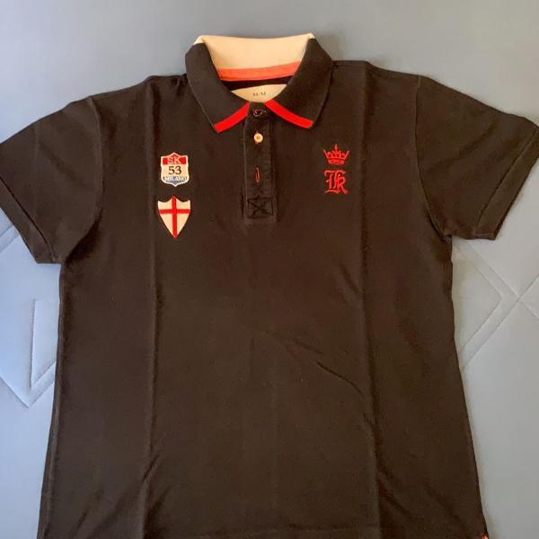 Camiseta polo sérgio k azul marinho