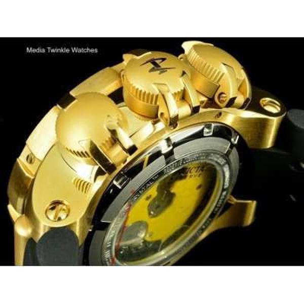 Invicta reserva 21642 masculino dourado com preto