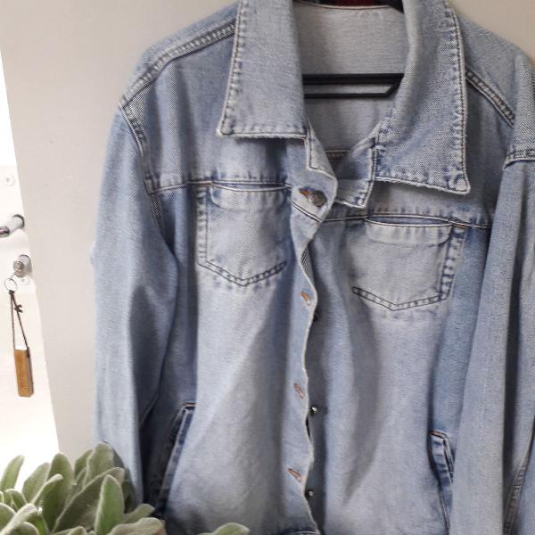 Jaquetona jeans grosso, masculina tamanho g (bem grande(
