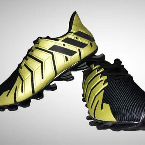 Tênis adidas masculino springblade preto e dourado