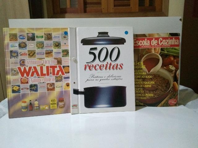 06 livros de culinária