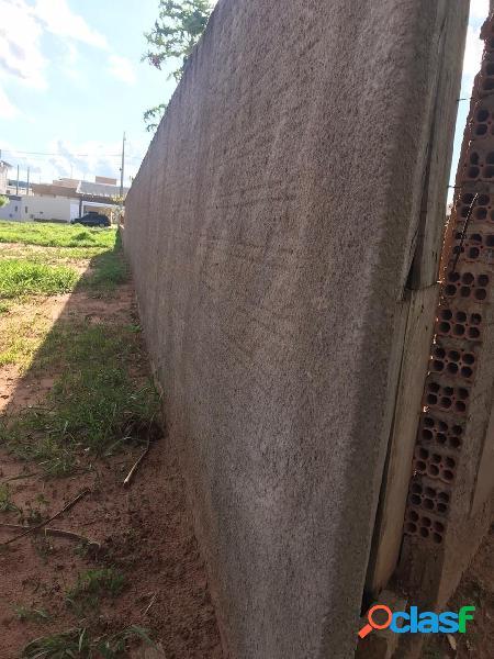 Terreno plano e murado no res. santanna em agudos