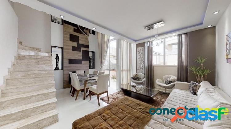 Cobertura duplex de 150 m², 3 dormitórios e 3 vagas em interlagos
