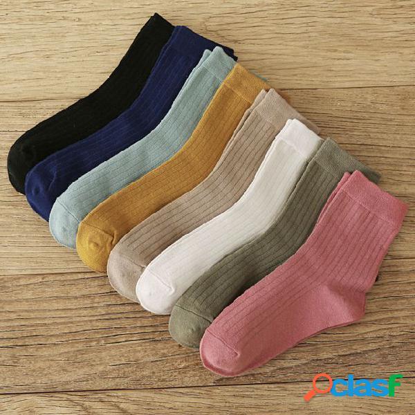 Novo produto meias de bombeamento cor selvagem japonesa no tubo meias algodão moda meias mulheres