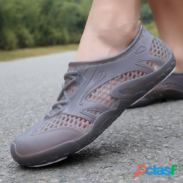 Temporada novo all-inclusive sandálias de plástico de uma-perna masculino à prova d 'água upstream velocidade interferência sapatos de água geléia buraco sapatos