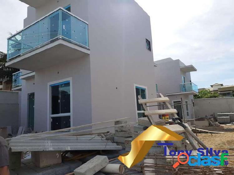 Excelentes casas duplex em condomínio com 3 quartos vila do peró!!!