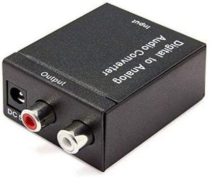 Adaptador conversor de áudio digital (óptico) para