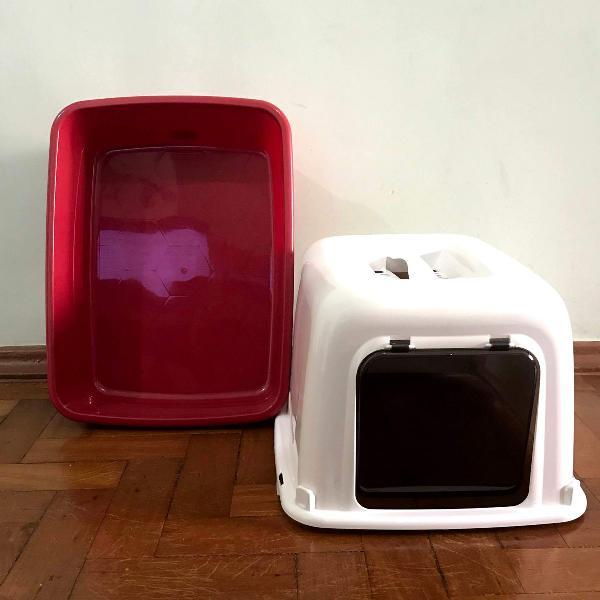 Caixa higiênica fechada para gatos (nova)
