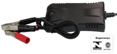 Carregador bateria inteligente unicharger 12v 3a c/ led