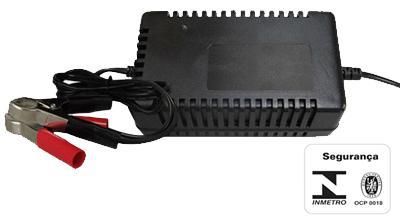 Carregador bateria inteligente unicharger 12v 6a c/ led