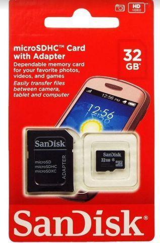 Cartão de memória sandisk 32gb-entregamos em domicílio
